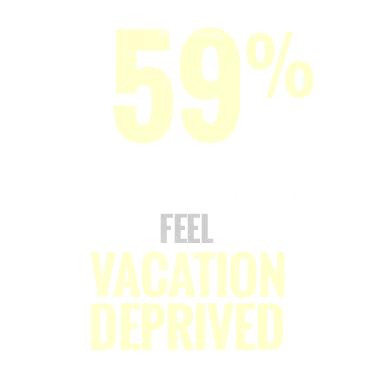 59% of Americans feel vacation deprived